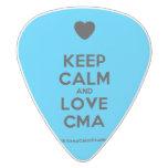 [Love heart] keep calm and love cma  Guitar Picks White Delrin Guitar Pick