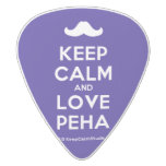 [Moustache] keep calm and love peha  Guitar Picks White Delrin Guitar Pick
