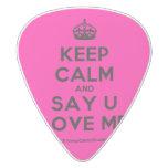 [Crown] keep calm and say u love me  Guitar Picks White Delrin Guitar Pick