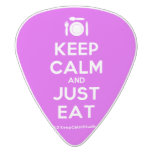 [Cutlery and plate] keep calm and just eat  Guitar Picks White Delrin Guitar Pick