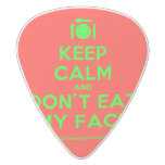 [Cutlery and plate] keep calm and don't eat my face  Guitar Picks White Delrin Guitar Pick