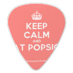 [Crown] keep calm and eat popsick  Guitar Picks White Delrin Guitar Pick