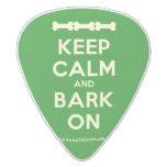 [Dogs bone] [Dogs bone] [Dogs bone] keep calm and bark on  Guitar Picks White Delrin Guitar Pick