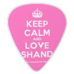 [Crown] keep calm and love ashanda  Guitar Picks White Delrin Guitar Pick