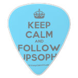 [Crown] keep calm and follow supsophie  Guitar Picks White Delrin Guitar Pick