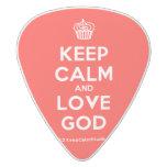 [Cupcake] keep calm and love god  Guitar Picks White Delrin Guitar Pick