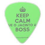 [Crown] keep calm que o jacinto é o boss  Guitar Picks White Delrin Guitar Pick
