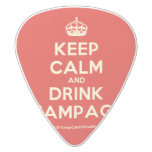 [Crown] keep calm and drink champagne  Guitar Picks White Delrin Guitar Pick