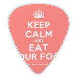 [Crown] keep calm and eat your food  Guitar Picks White Delrin Guitar Pick