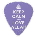 [Crown] keep calm and love allah  Guitar Picks White Delrin Guitar Pick