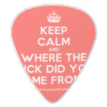 [Crown] keep calm and where the fuck did you come from?!  Guitar Picks White Delrin Guitar Pick