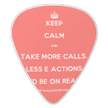 [Crown] keep calm and take more calls, less e actions and be on ready  Guitar Picks White Delrin Guitar Pick