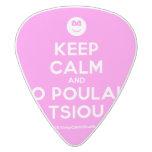 [Smile] keep calm and to poulaki tsiou  Guitar Picks White Delrin Guitar Pick
