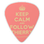 [Crown] keep calm and follow thierry  Guitar Picks White Delrin Guitar Pick