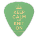 [Knitting crown] keep calm and knit on  Guitar Picks White Delrin Guitar Pick