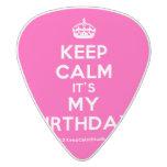 [Crown] keep calm it's my birthday  Guitar Picks White Delrin Guitar Pick