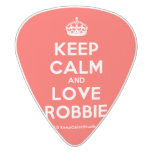 [Crown] keep calm and love robbie  Guitar Picks White Delrin Guitar Pick