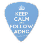 [Crown] keep calm and follow #dhc  Guitar Picks White Delrin Guitar Pick
