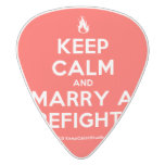 [Campfire] keep calm and marry a firefighter  Guitar Picks White Delrin Guitar Pick