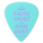[Knitting crown] faith trust and pixie dust  Guitar Picks White Delrin Guitar Pick