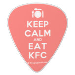 [Cutlery and plate] keep calm and eat kfc  Guitar Picks White Delrin Guitar Pick