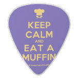 [Chef hat] keep calm and eat a muffin  Guitar Picks White Delrin Guitar Pick