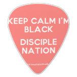 keep calm i'm black disciple nation  Guitar Picks White Delrin Guitar Pick