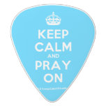 [Crown] keep calm and pray on  Guitar Picks White Delrin Guitar Pick