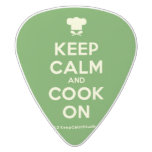 [Chef hat] keep calm and cook on  Guitar Picks White Delrin Guitar Pick