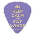 [Crown] keep calm and eat wings  Guitar Picks White Delrin Guitar Pick