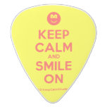 [Smile] keep calm and smile on  Guitar Picks White Delrin Guitar Pick