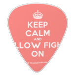 [Crown] keep calm and pillow fight on  Guitar Picks White Delrin Guitar Pick