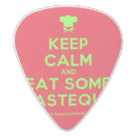[Chef hat] keep calm and eat some pasteque  Guitar Picks White Delrin Guitar Pick