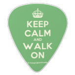 [Crown] keep calm and walk on  Guitar Picks White Delrin Guitar Pick