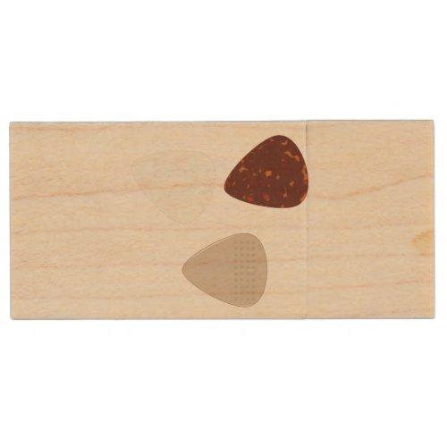 Guitar Pics Wood Flash Drive