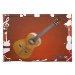 GUITAR  PLAY BACKGROUND PRODUCTS PLACEMATS