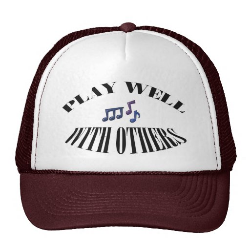 """Guitar """"Play Well With Others"""" Cap or Hat"""
