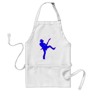 Guitar Playe Silhouette Adult Apron
