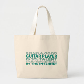 Guitar Player 3% Talent Tote Bags