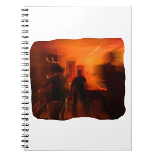 Guitar Player and Dancers Zoomed Spiral Notebook