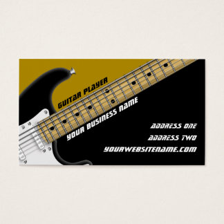 Guitar Player Business Card