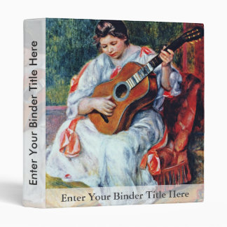 Guitar Player By Pierre-Auguste Renoir 3 Ring Binders