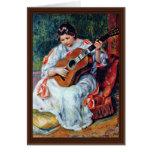 Guitar Player By Pierre-Auguste Renoir Greeting Cards