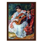 Guitar Player By Pierre-Auguste Renoir Postcard
