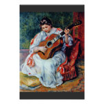 Guitar Player By Pierre-Auguste Renoir Poster