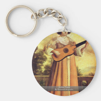 Guitar Player By Quesnel Augustin Keychains