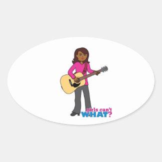 Guitar Player - Dark Oval Sticker