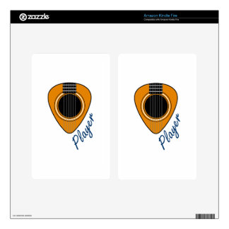 Guitar Player Decals For Kindle Fire