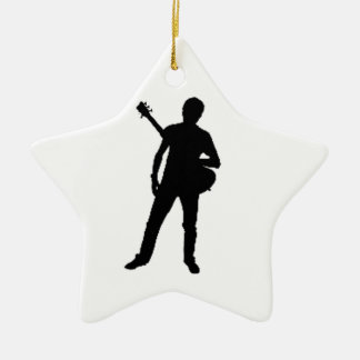 """""""Guitar Player"""" design gifts and products Ceramic Ornament"""
