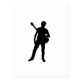 """""""Guitar Player"""" design gifts and products Postcard"""